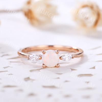 Opal Engagement Rings-BBBGEM Opal Engagement Rings