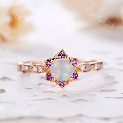 Opal Rings For Women-BBBGEM Opal Rings For Women