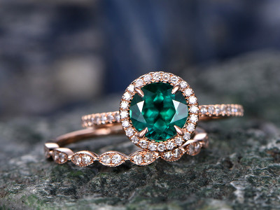 emerald-ring-wedding-set