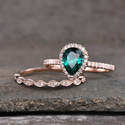 Emerald Wedding Set