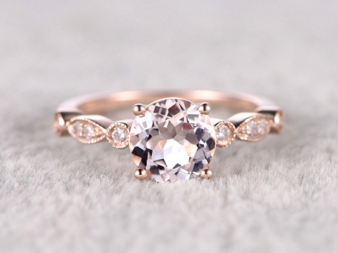 Morganite Engagement Rings Under  500 is A Best Selling Line - BBBGEM 062d1a6dd3