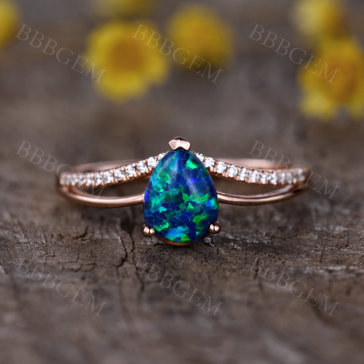 4 Contemporary Black Opal Engagement Ring set Trends in 2021