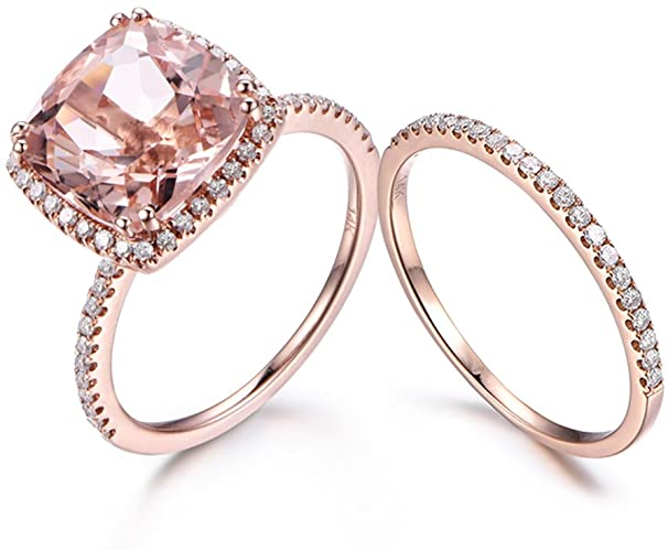 8 Types of Rose Gold Rings Morganite you want to Buy in 2021