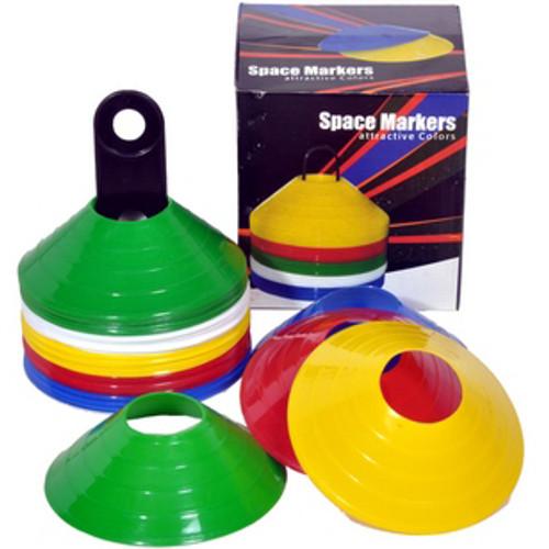 GISCO Training Marker Cones Pack of 50 pcs Multi Color Space Cones