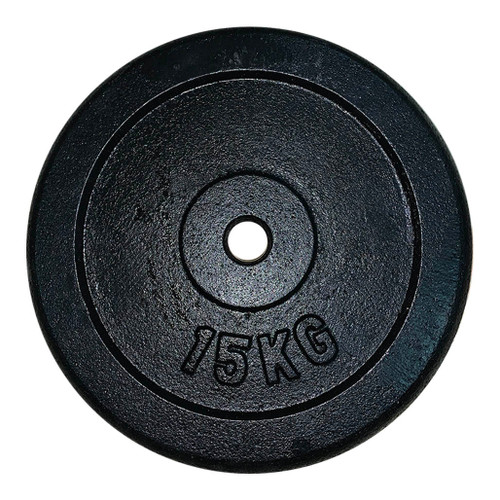15 Kg Black Iron Regular Weight Plates (1 pc)