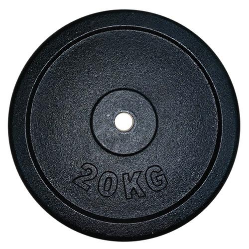 20 Kg Black Iron Regular Weight Plates (1 pc)
