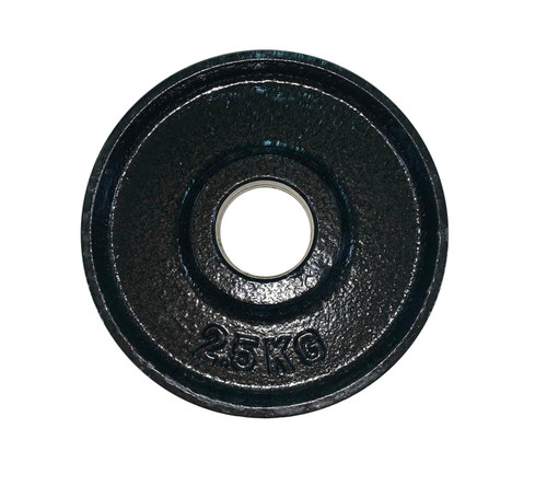 2.5 Kg Black Iron Olympic Weight Plate - 53 mm Centre Hole Diameter (1 pc)