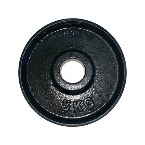 5 Kg Black Iron Olympic Plate - 53 mm Centre Hole Diameter (1 pc)