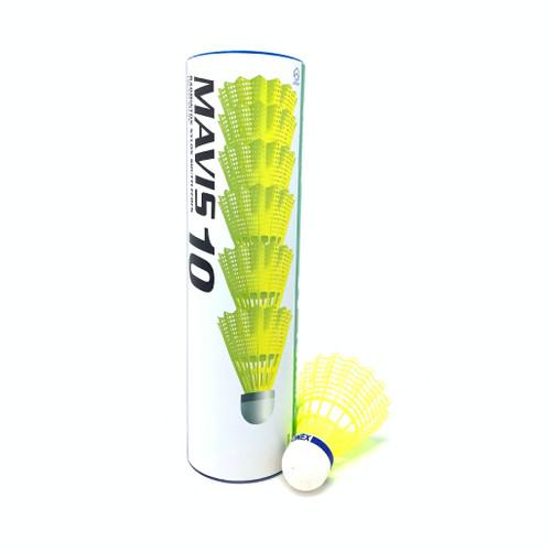 Yonex Mavis-10 Nylon Badminton Shuttlecock - Tube of 6 pcs, Color Yellow