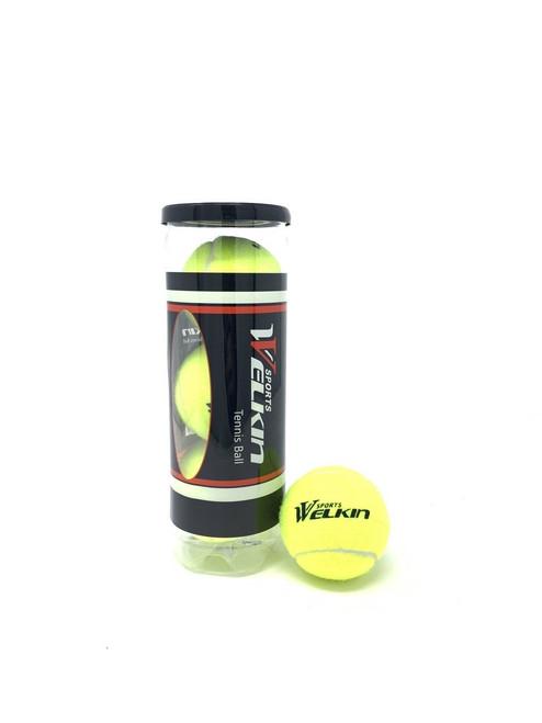Welkin Tennis Balls Can of 3 pcs Yellow