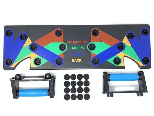 Push Up Board 9 in 1 Multifunction Muscleboard - Color Coded Push-Up Rack for Home Workouts
