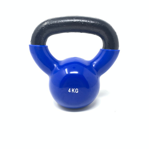 4 kg Vinyl Coated Kettlebell With Iron Handle