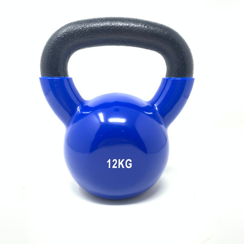 12 kg Vinyl Coated Kettlebell With Iron Handle