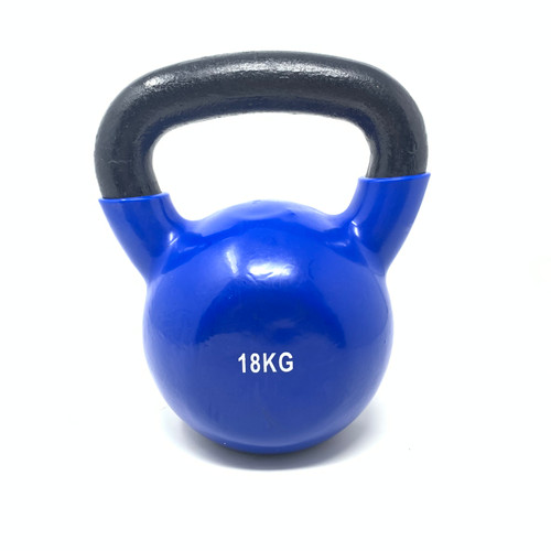 18 kg Vinyl Coated Kettlebell With Iron Handle