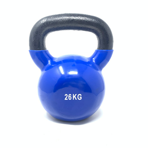 26 kg Vinyl Coated Kettlebell With Iron Handle