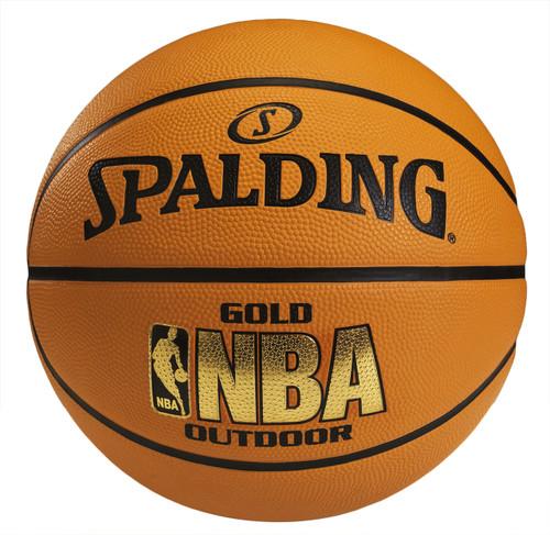 Spalding NBA Gold Outdoor Basketball - Size 7