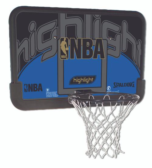 "Spalding Highlight 44"" Eco-Composite Basketball Hoop Backboard & Rim Combo"