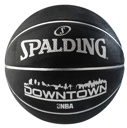 Spalding Downtown Black Outdoor Basketball - Size 7