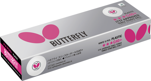 BUTTERFLY G40+ 3 Star Balls Pack of 12
