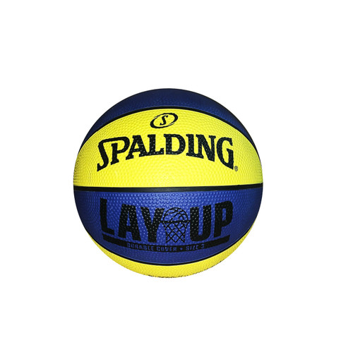 Spalding Lay Up Yellow/Blue Outdoor Basketball - Size 3