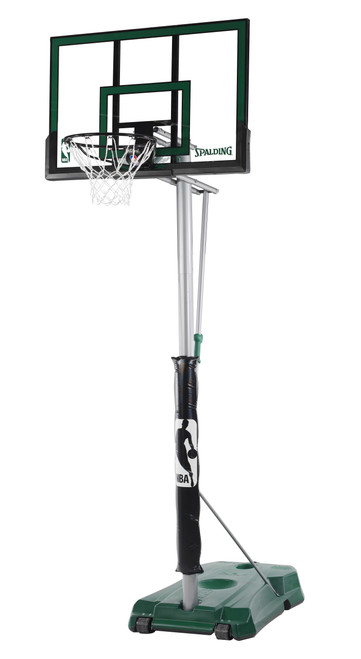 "Spalding Hercules 54"" Acrylic Advanced Portable Basketball Hoop Green"