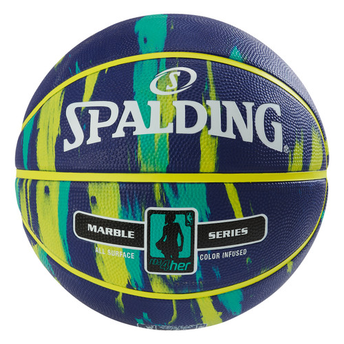 Spalding 4 HER Marble Series Navy Outdoor Basketball - Size 6