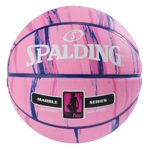 Spalding 4 HER Marble Series Pink Outdoor Basketball - Size 6