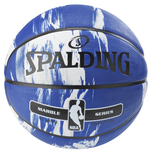 Spalding Marble Series Blue/White Outdoor Basketball - Size 7