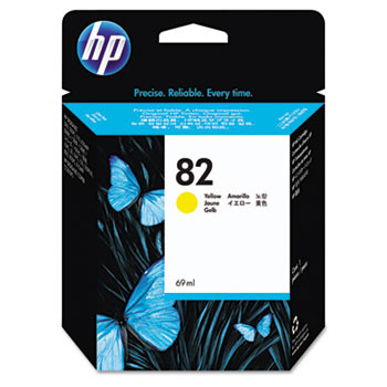 HP 82 Yellow Ink Cartridge 69ml (HEWC4913A)
