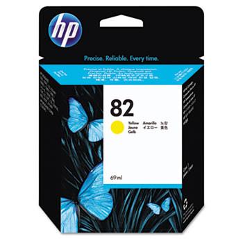 HP 82 Yellow Ink Cartridge 69ml (HEWC4913A)