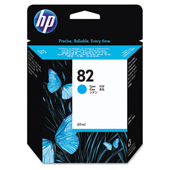 HP 82 Cyan Ink Cartridge 69ml (HEWC4911A)