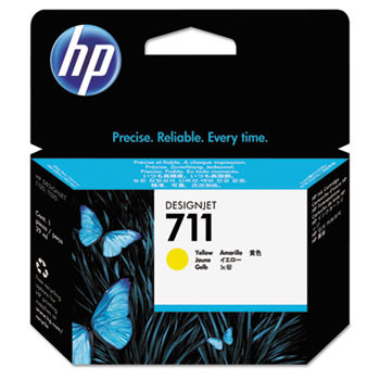 HP 711 Yellow Ink Cartridge 29ml (HEWCZ132A)