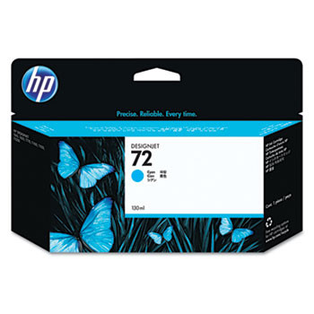HP 72 Cyan Ink Cartridge 130ml (HEWC9371A)