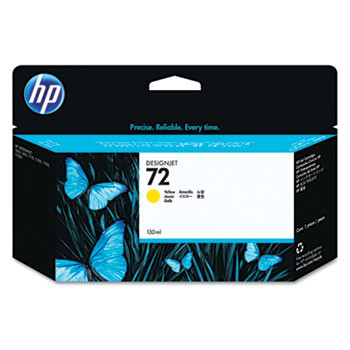 HP 72 Yellow Ink Cartridge 130ml (HEWC9373A)
