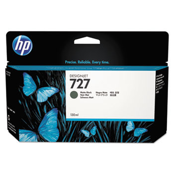 HP 727 Matte Black Ink Cartridge 130ml (HEWB3P22A)