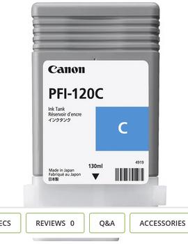 Canon PFI 120MBK - Cyan Pigment Ink Tank 130ml