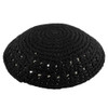 Black Knitted Kippah with Holes
