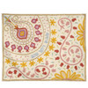 Hand-embroidered Pomegranate Challah Cover, light.