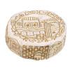 Gold Hand-Embroidered Jerusalem Hat