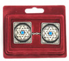 Rectangular Magen David Tallit Clips