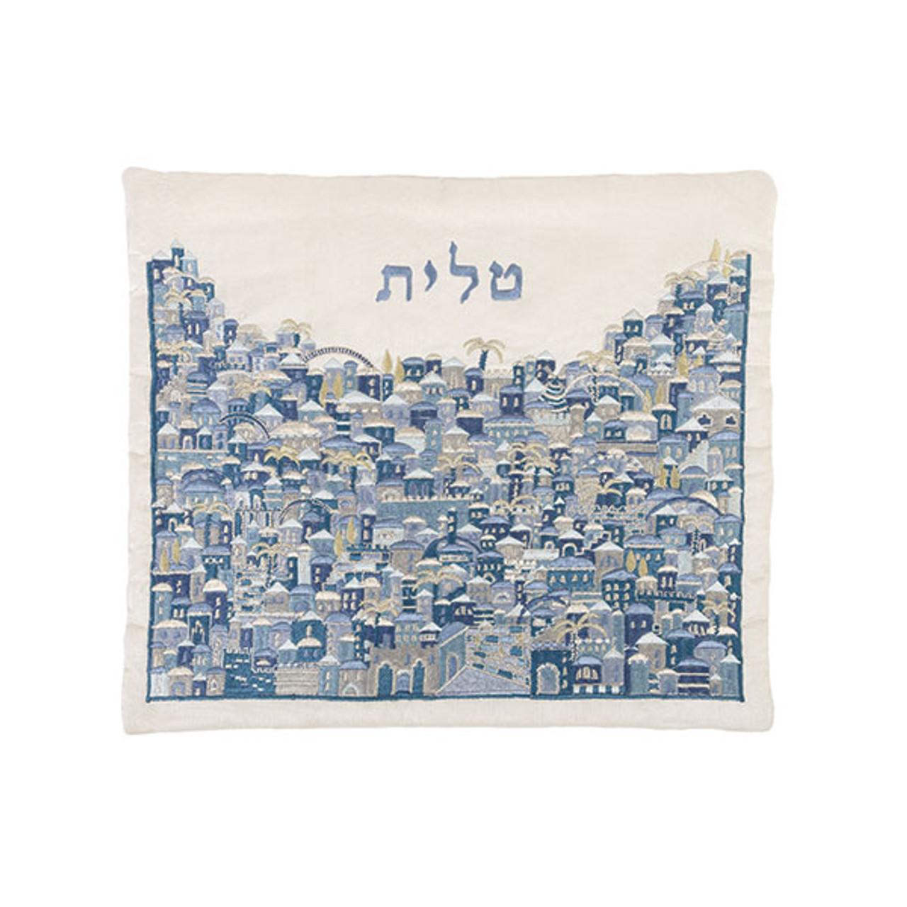 Raw Silk Jerusalem Hillside Tallit Bag