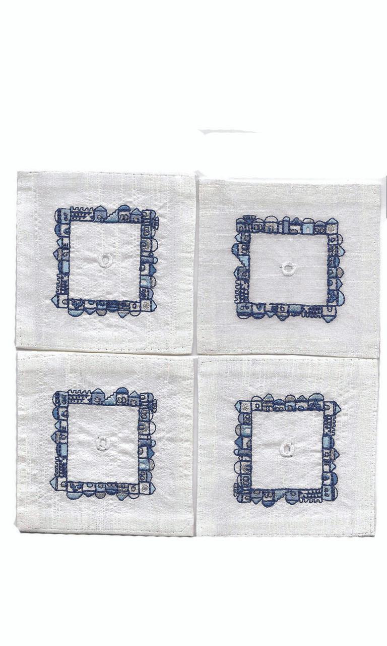 Blue Jerusalem Tallit Corners