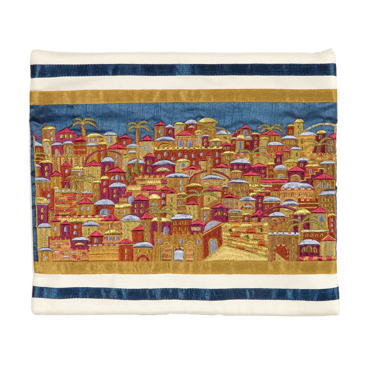 Raw Silk Jerusalem in Color Tallit Bag