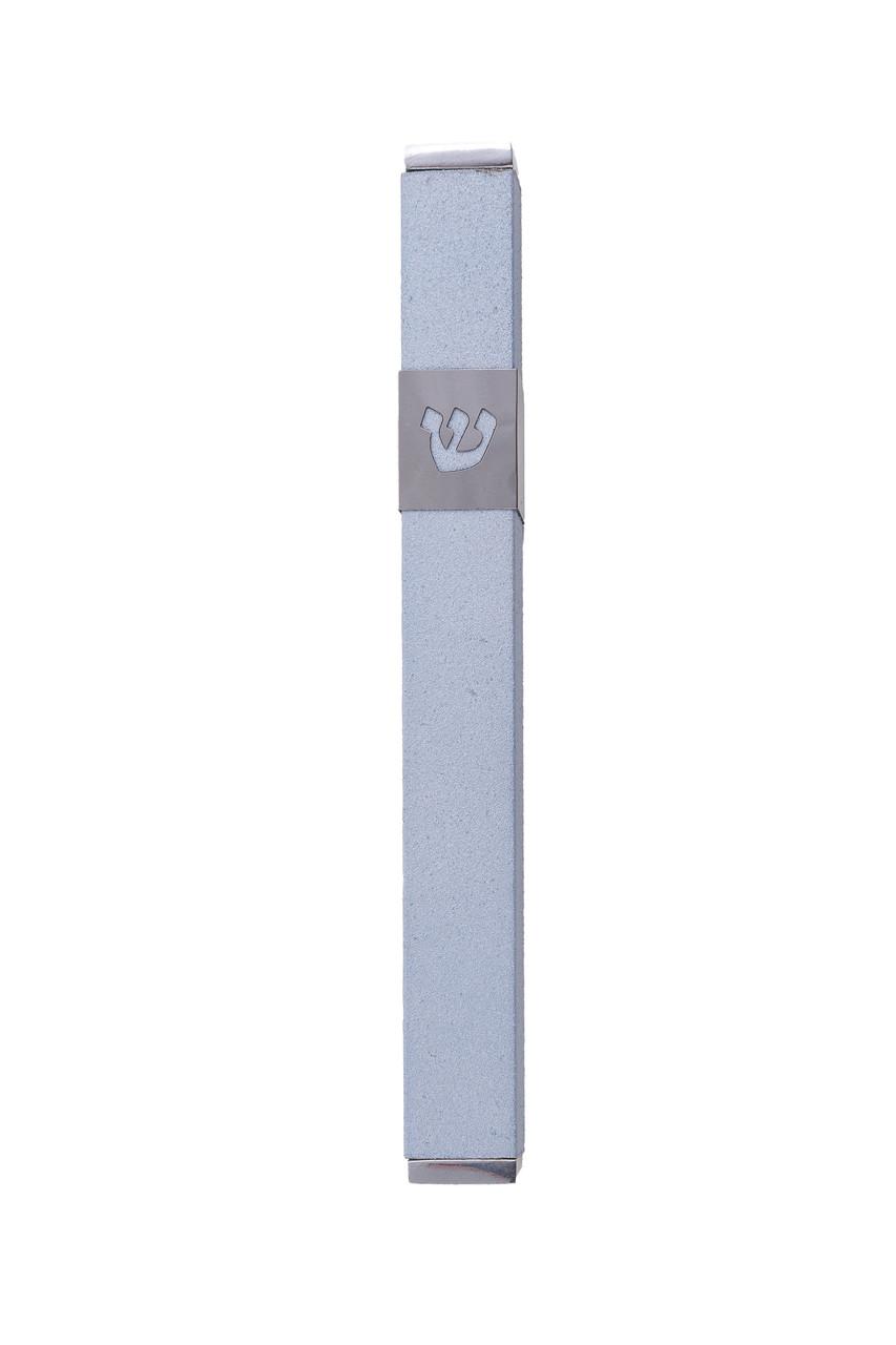 Gray & Silver Stainless Steel Mezuzah