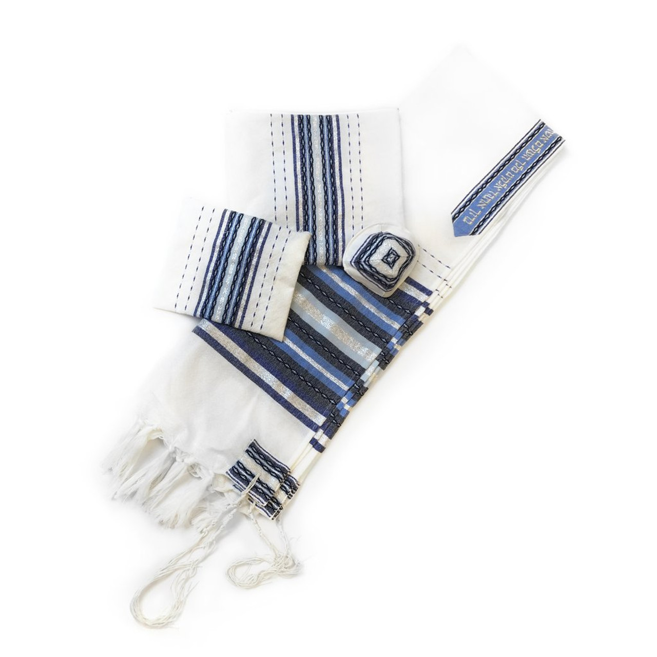 Gabrieli Premium - White with Shades of Blue & Silver