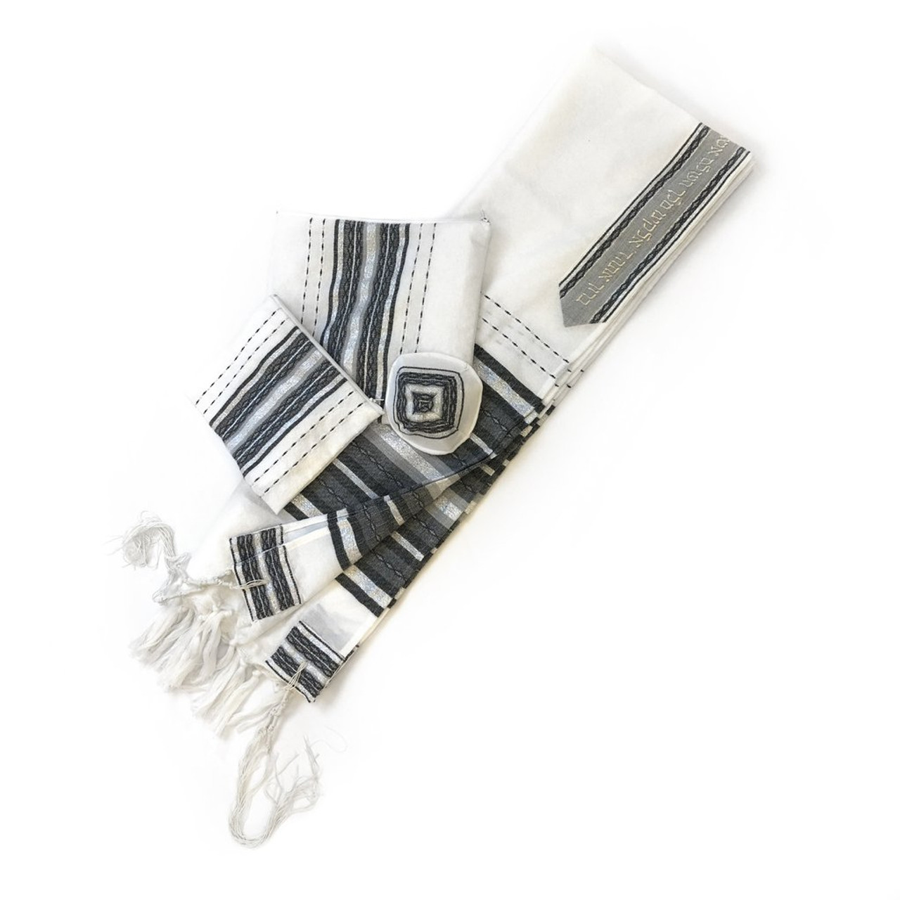 Gabrieli Premium - White with Gray & Silver