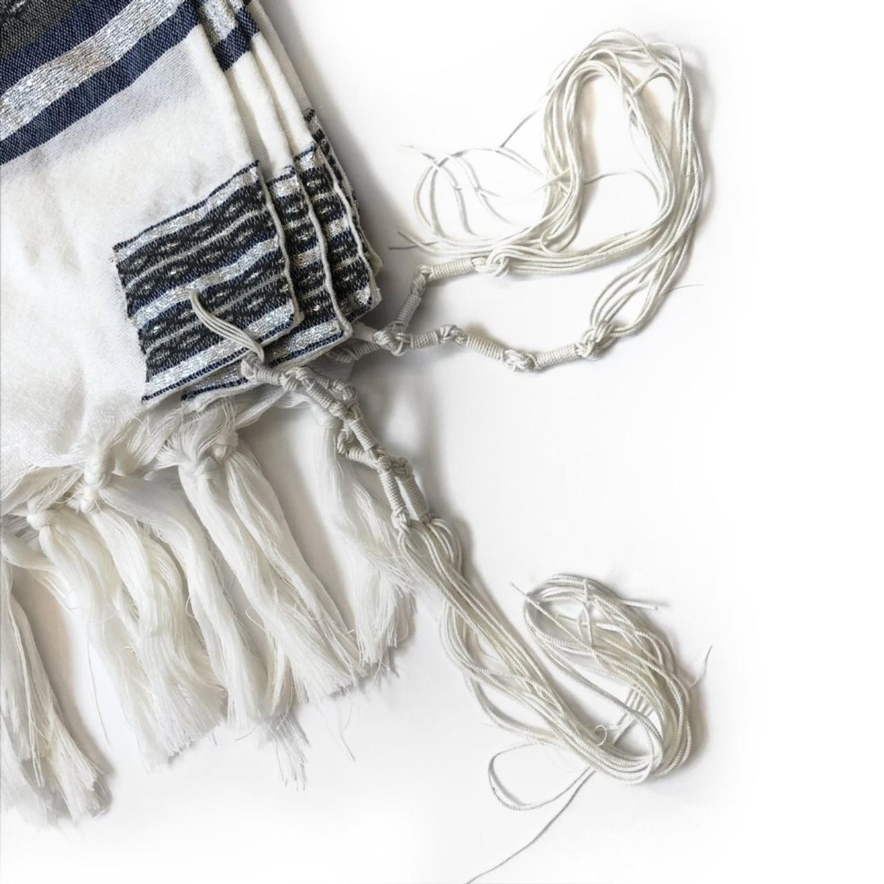 Gabrieli Premium - White with Denim & Silver