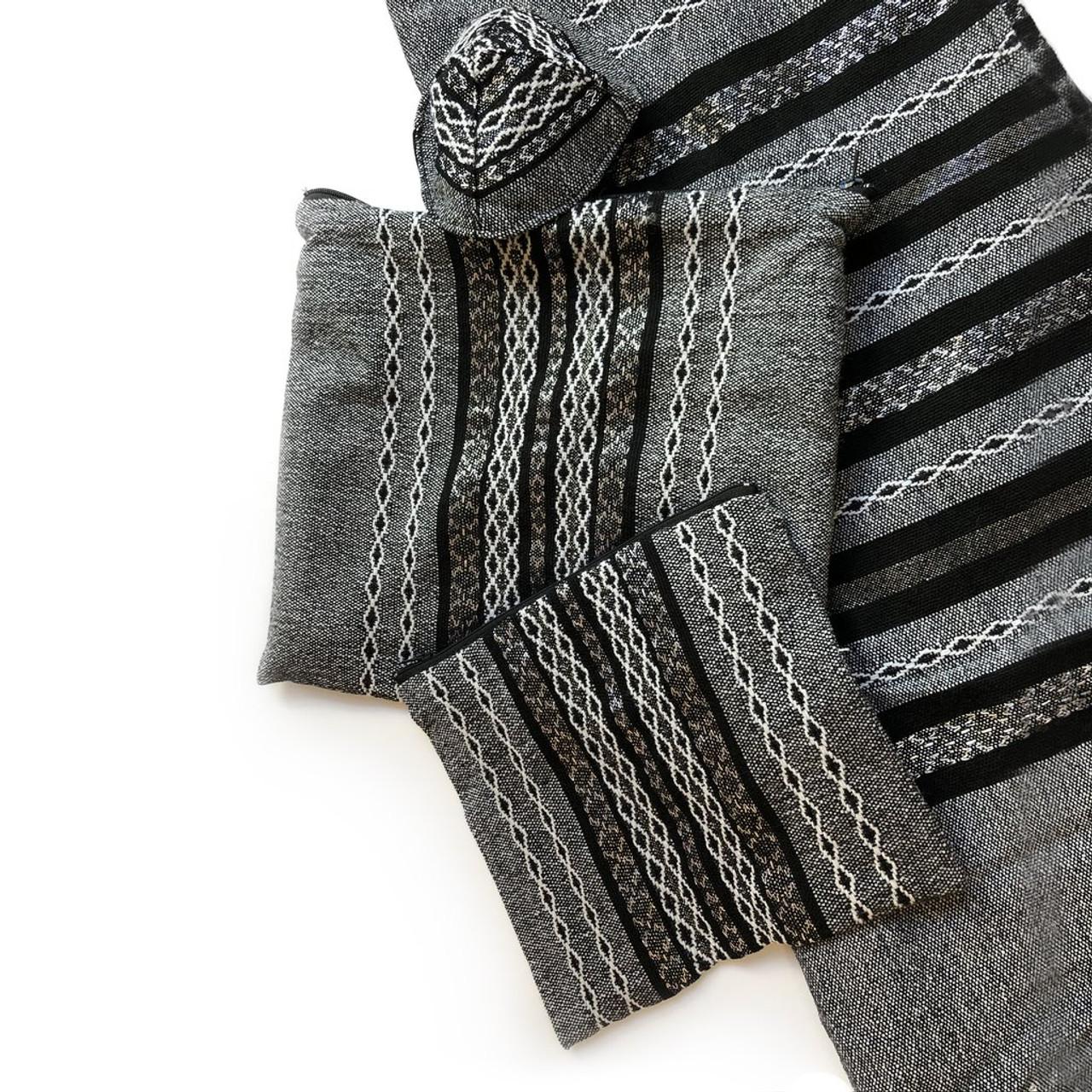 Gabrieli Premium - Gray with Black, White & Silver