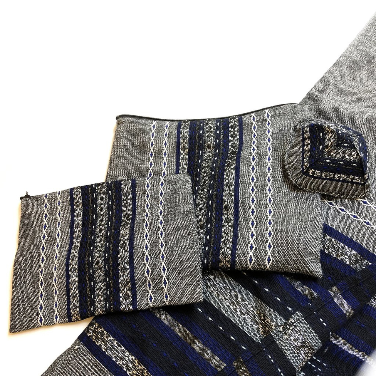 Gabrieli Premium - Gray with Blue, White & Silver