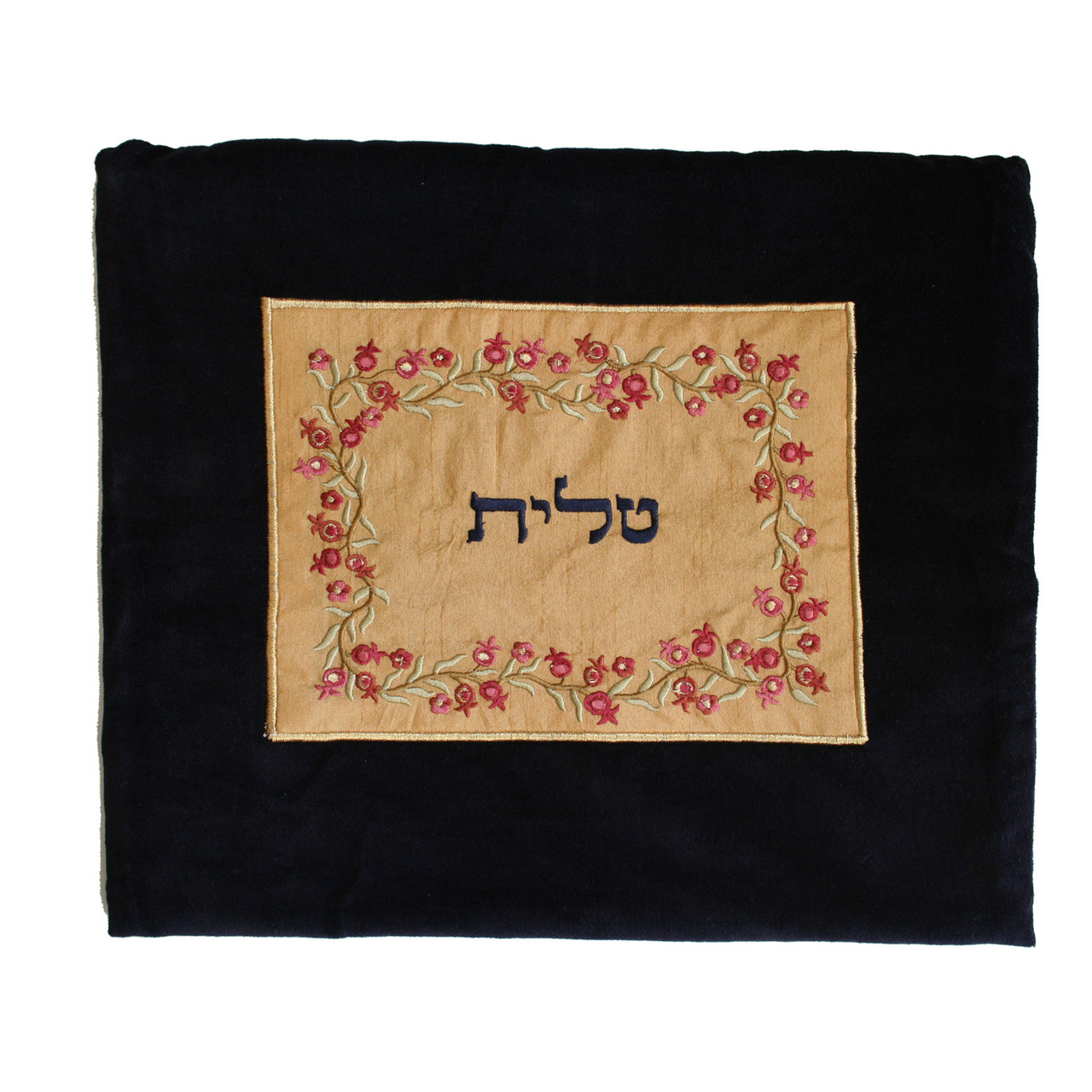 Classic Velvet with Burgundy/Gold Pomegranates Motif